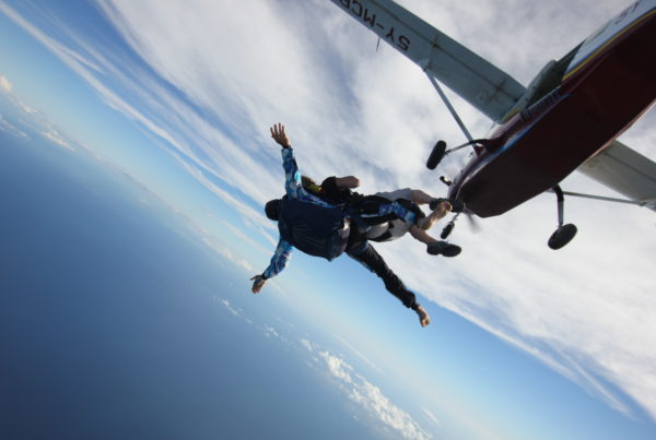 Heather is going to throw herself out of a plane!