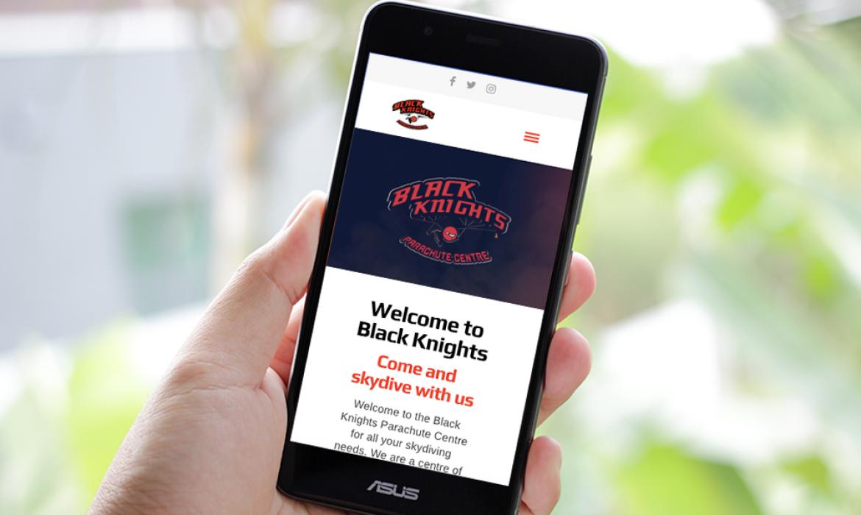 Black Knights Website on Mobile