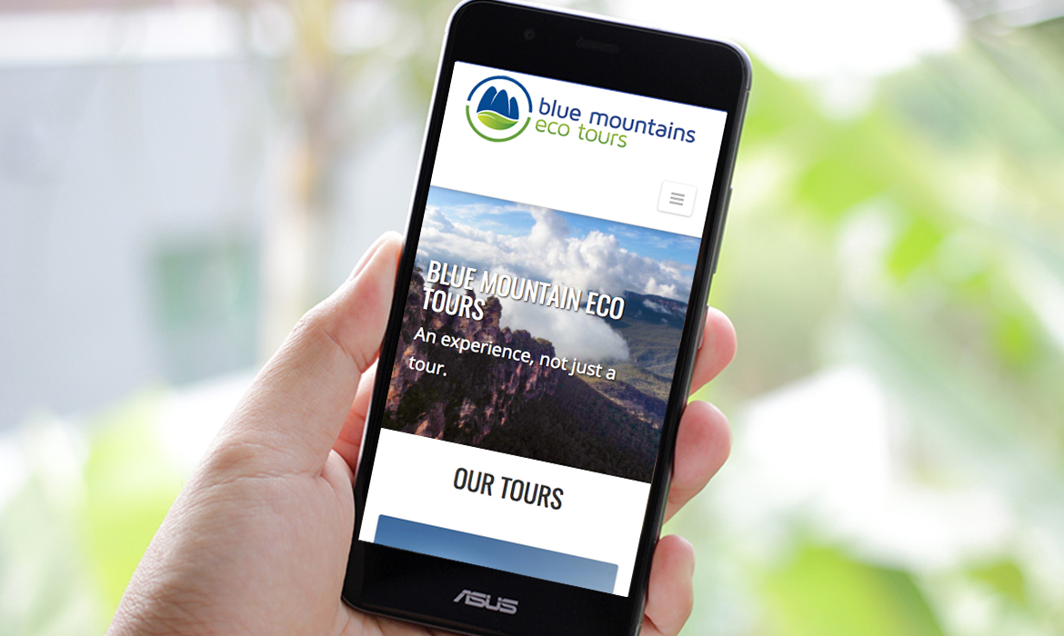 Blue Mountains Eco Tours Website on Mobile