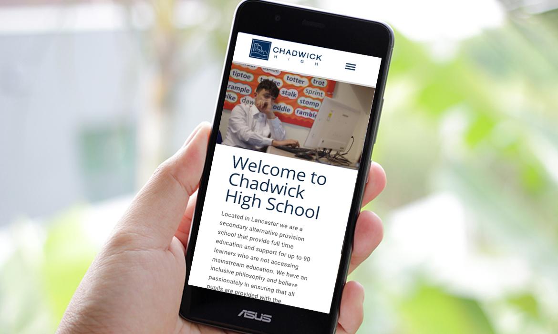Chadwick High School Website on Mobile