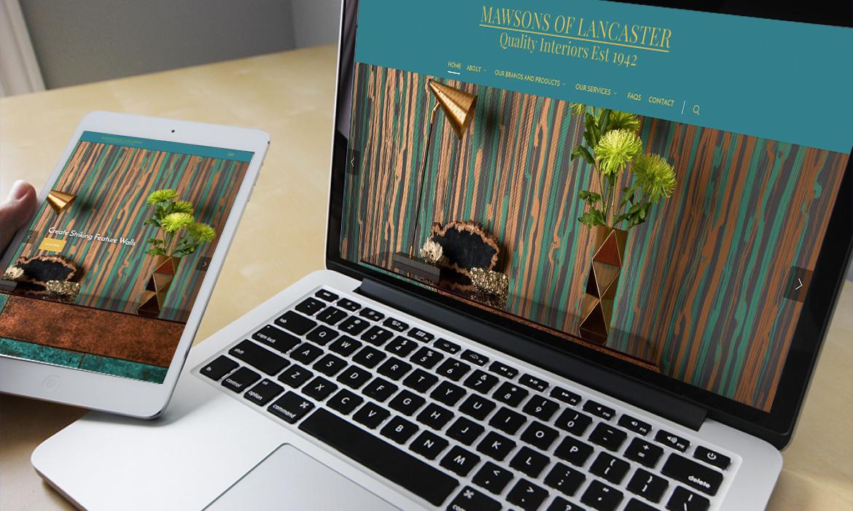 Mawsons of Lancaster Website on Desktop