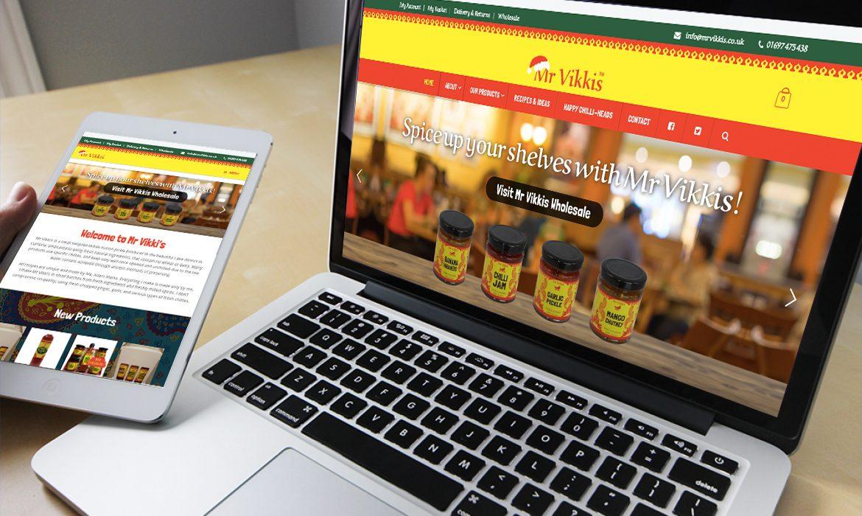 Mr Vikki's Website on Desktop