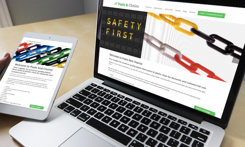 Posts & Chains Website on Desktop