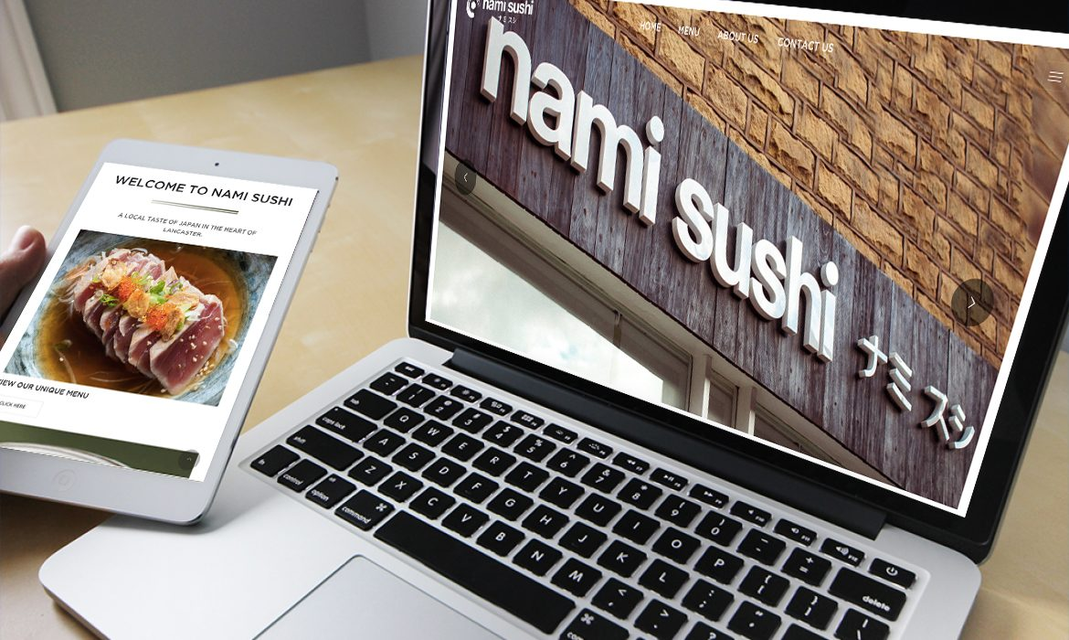 Nami Sushi Website on Desktop