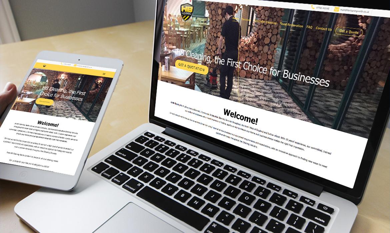 HB Cleaning Website on Desktop
