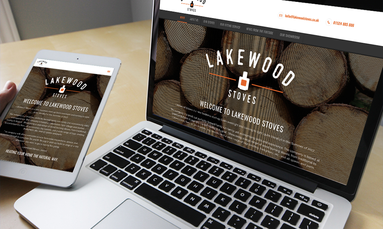 Lakewood Stoves Website on Desktop