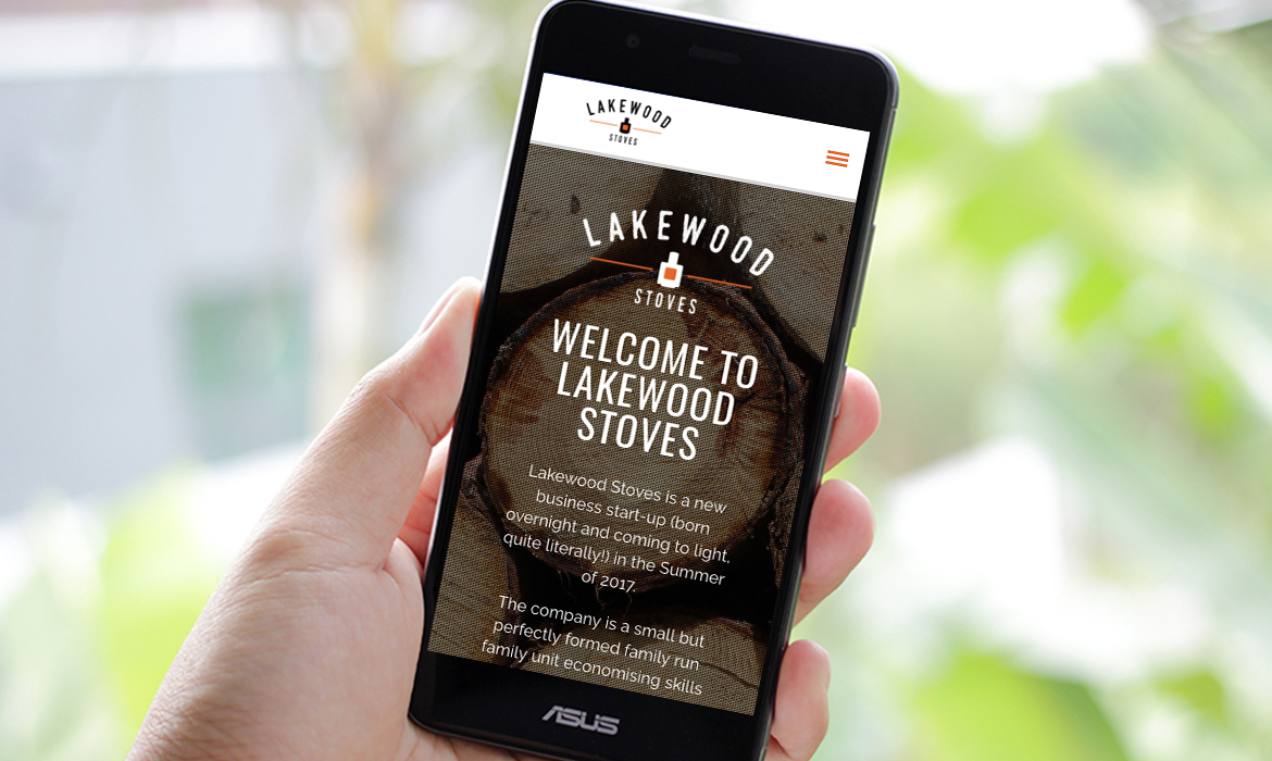 Lakewood Stoves Website on Mobile