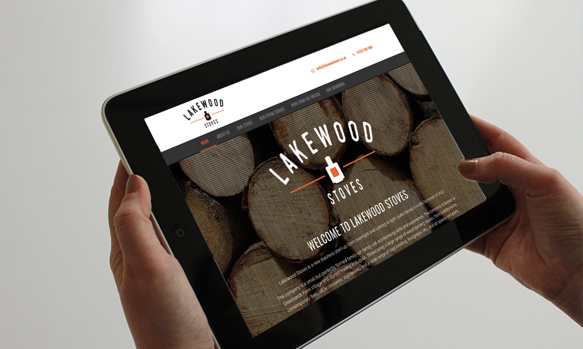 Lakewood Stoves Website on Tablet