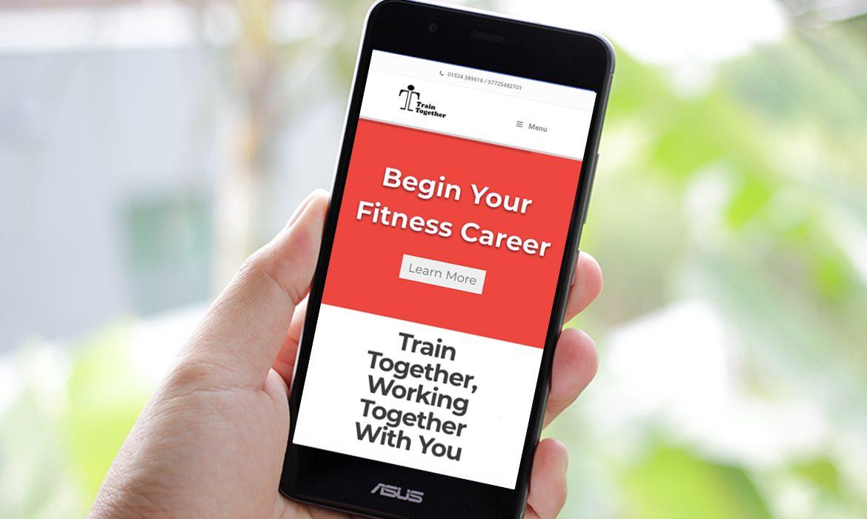 Train Together Website on Mobile