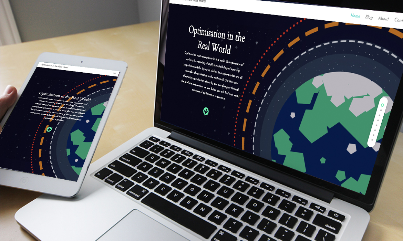 Optimisation In The Real World Website on Desktop