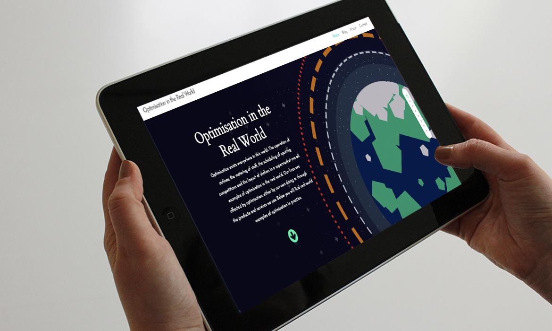Optimisation In The Real World Website on Tablet