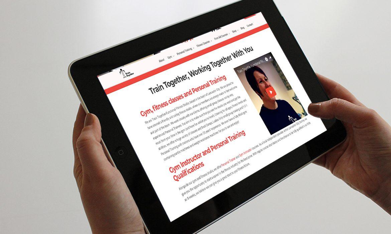 Train Together Website on Tablet