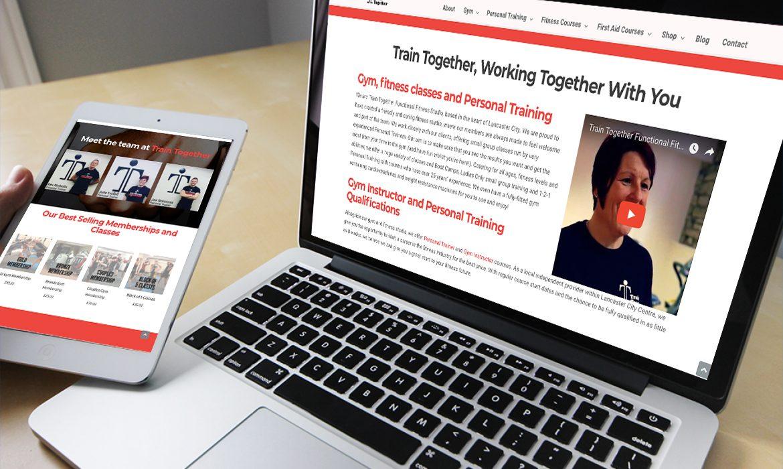 Train Together Website on Desktop