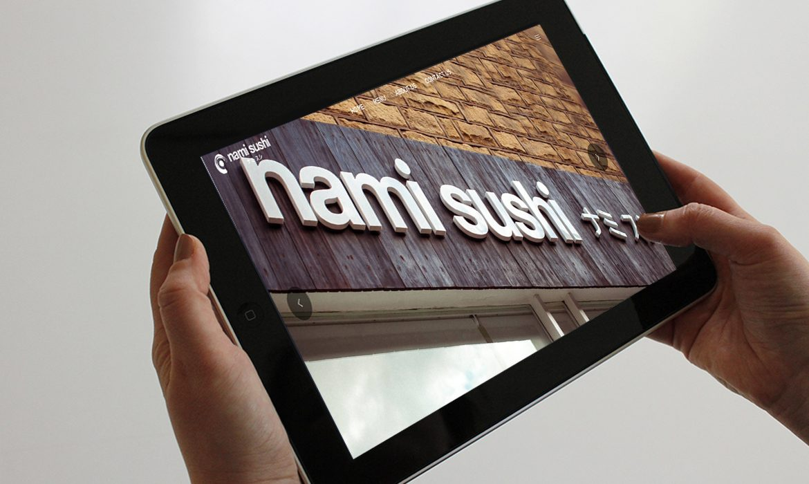 Nami Sushi on Tablet