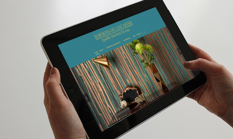 Mawsons of Lancaster Website on Tablet