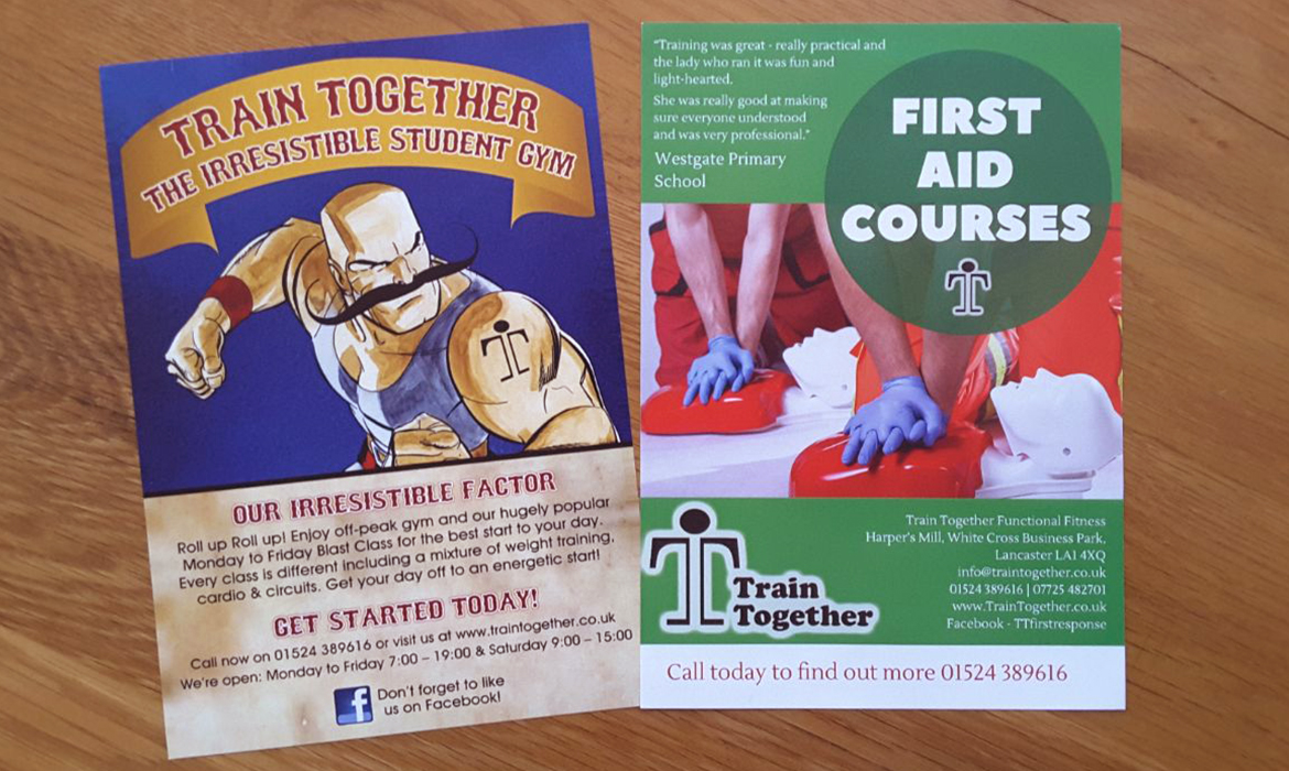 Train Together Printed Flyers
