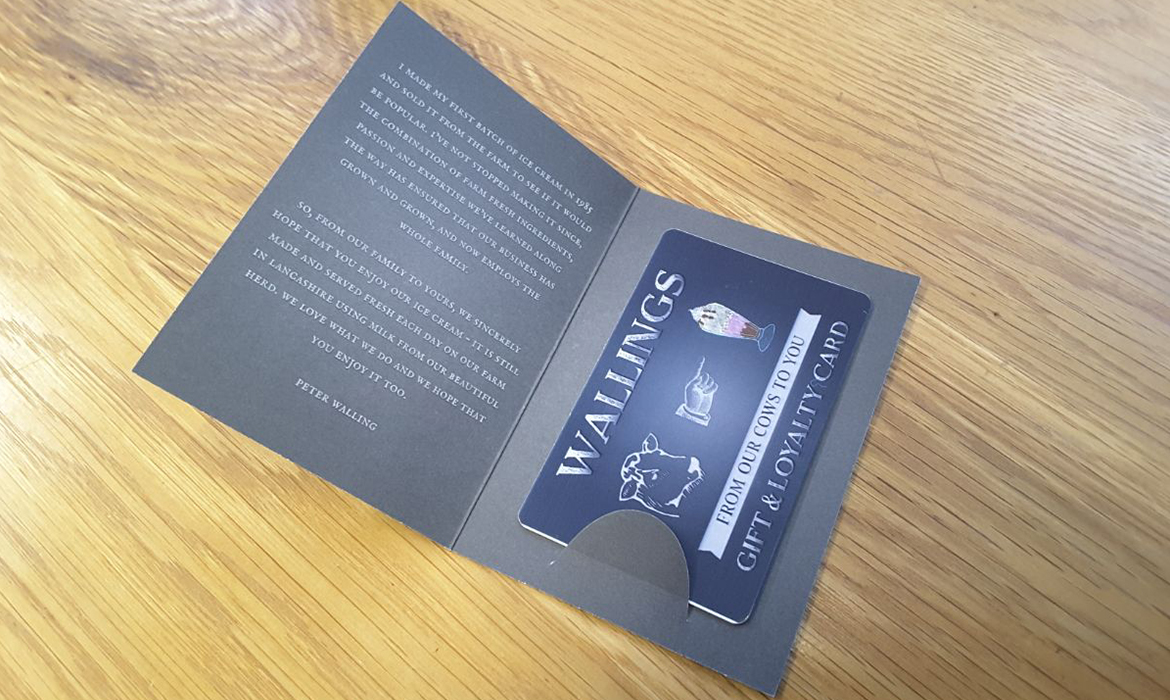 Wallings Gift & Loyalty Card and Wallet