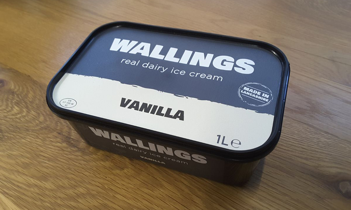 Wallings Ice Cream Tub Design